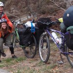Bike Touring with Extra Large Sleeping Bag