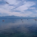 Lake Lucerne in Ouchy, Switzerland