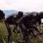 Sculpture at Olympic Village in Ouchy, Switzerland